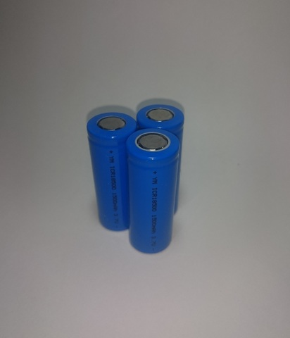 Аккумулятор ICR18500 Li-ion 1500mAh 3,7V 5,5Wh