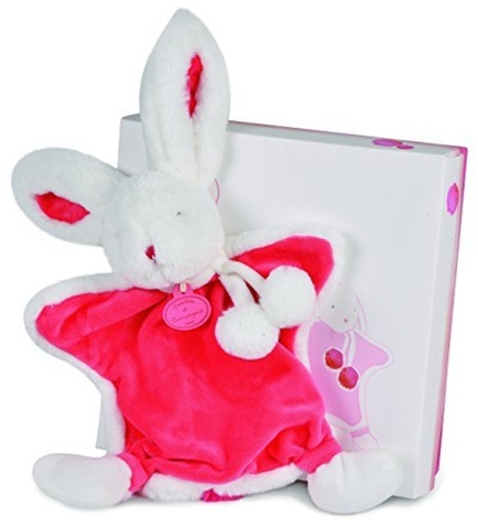 Doudou et Compagnie.Doudou Strawberry - Rabbit Pompon