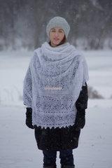 Оренбургский пуховый платок 71 фото 3
