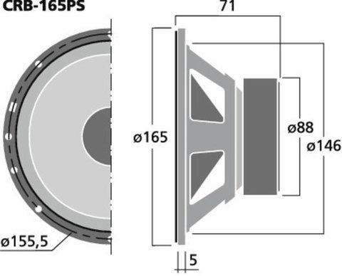 Автомобильные мидбасовые динамики Carpower CRB-165PS