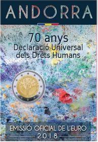 2 евро 2018 Андорра - 70 лет всеобщей декларации прав человека