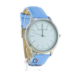 TIME CHAIN marylebone leather silver blue 70006/s/b
