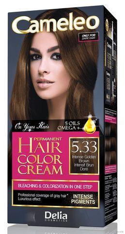 Delia Cosmetics Cameleo Kрем-краска для волос тон 5.33 интенсивный золотистый коричневый