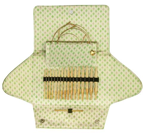 Набор круговых бамбуковых спиц со сменными лесками addiClick BAMBOO Германия арт.550-2/000