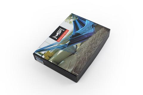 Гамак из хлопка бирюзово-фиолетовый Milli BHD-01