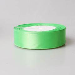 Лента атласная 1д х 23м светло-зеленая 115