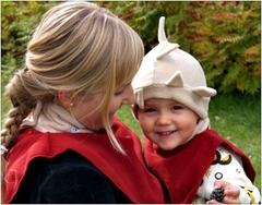 Флисовая слинго-манишка для мамы и малыша МаМ Babywearing Dickey Fleece, Красный