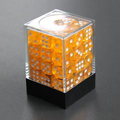 Набор шестигранных кубиков прозрачный золотой (36 штук)