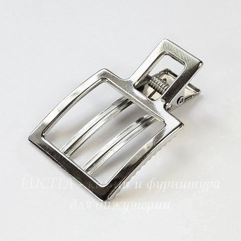 Основа для заколки 51х33 мм (цвет - платина)