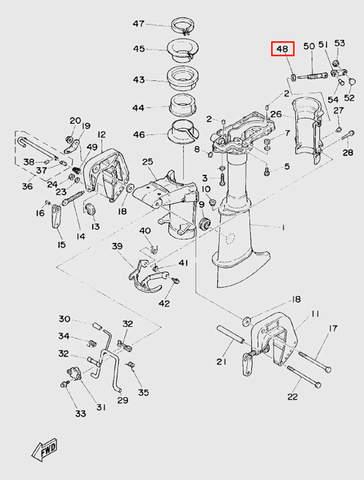 Шайба винта фиксации дейдвуда для лодочного мотора T5 Sea-PRO (10-48)