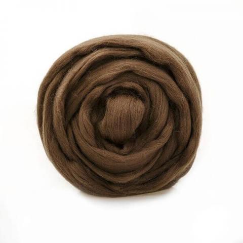Шерсть для валяния Полутонкая (Троицкая) 3804 коричневый