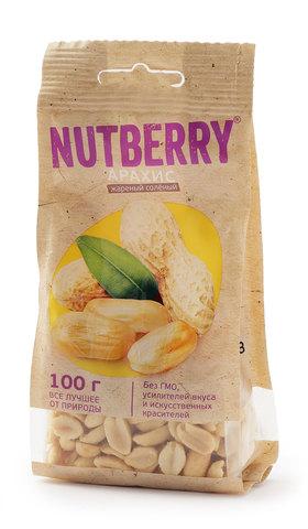 NUTBERRY Арахис жареный соленый 100 г