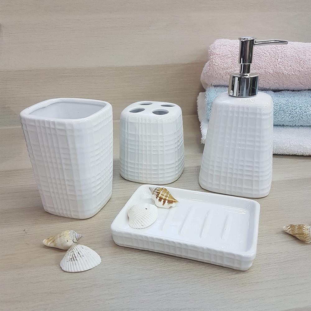 Ванный набор, белый, керамический.