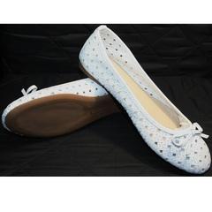 Белые кожаные балетки Vasari Gloria 19Y38840 White.