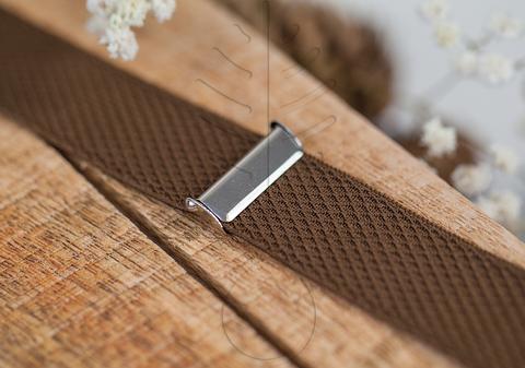 Регулировочный зажим для подтяжек, никель, 25 мм