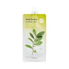 Missha Ночная маска с экстрактом зеленого чая Pure Source Pocket Pack Green Tea, 10 мл