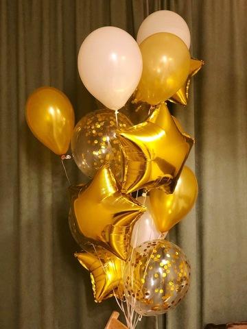 Набор золотых шаров