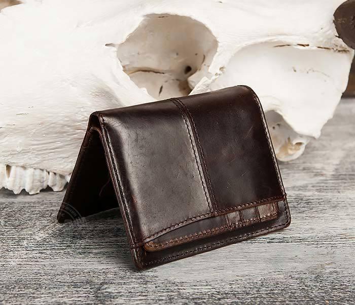 WL297-2 Классическое мужское портмоне со съемным кардхолдером фото 02