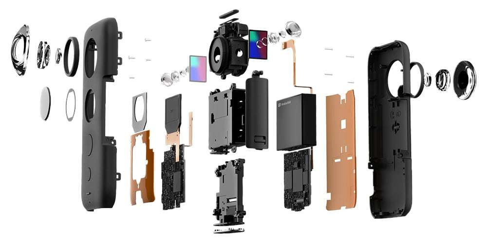Камера панорамная Insta360 ONE X разобрана