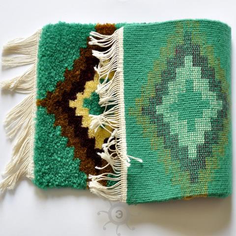 Коврик Зеленый ручной работы