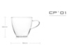 2 чашки 150 мл в наборе SAMADOYO CP-01