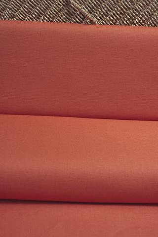 Льняная интерьерная ткань цвет ТЕРРАКОТОВЫЙ