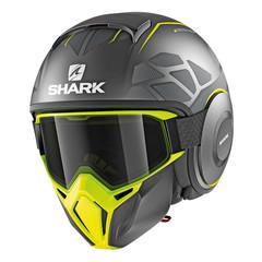 Мотошлем с маской Shark Street Drak Hurok, жёлтый