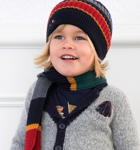 Комплект Mayoral шапка и шарф В полоску