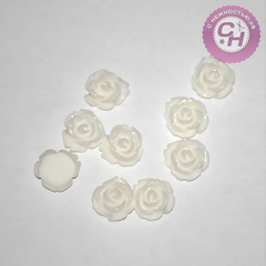 Роза объемная из смолы мини, 0,8 см, 10 шт.