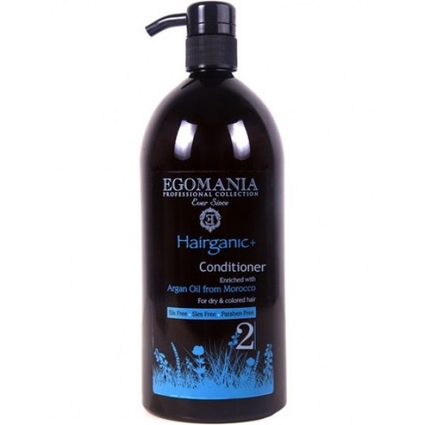 Кондиционер с маслом арганы для сухих и окрашенных волос, Hairganiс Egomania,1000 мл.
