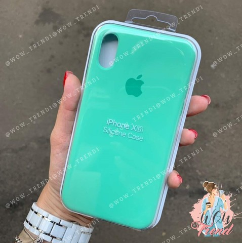 Чехол iPhone XR Silicone Case /spearmint/ яркая мята original quality