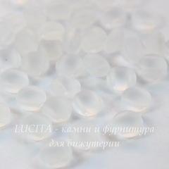 Бусина Candy Кабошон с 2 отверстиями, 8 мм, прозрачная матовая