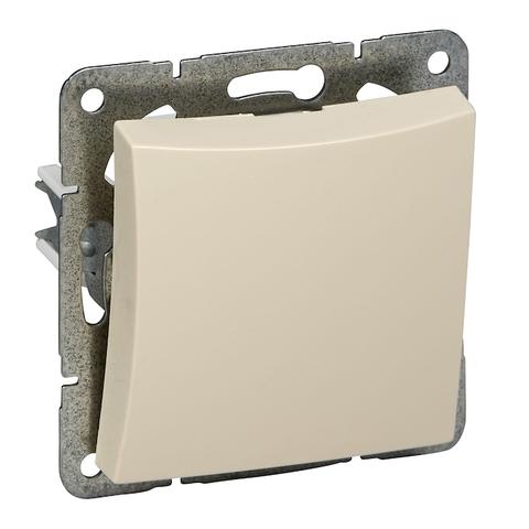 Выключатель одноклавишный с подсветкой (схема 1) 10 АХ 250 В. Цвет Бежевый. Schneider Electric(Шнайдер электрик). Duet(Дует). WDE000211