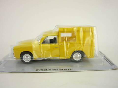 Syrena 105 Boston yellow 1:43 DeAgostini Kultowe Auta PRL-u #30