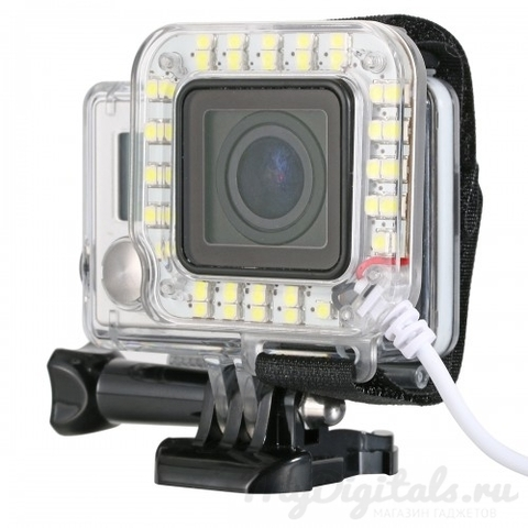 Светодиодная LED подсветка (USB) для экшн камеры GoPro