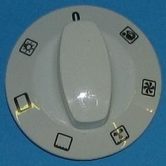 Ручка переключателя  режимов духовки(0-6) белая
