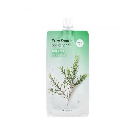 Missha Ночная маска для лица c экстрактом чайного дерева Pure Source Pocket Pack Tea Tree, 10 мл