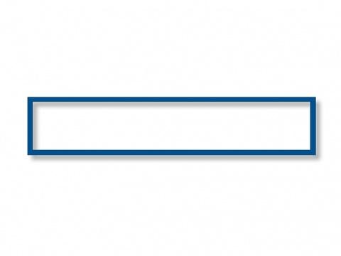 Магнитная рамка А4/А3, синяя, 319х52мм, 5шт/уп