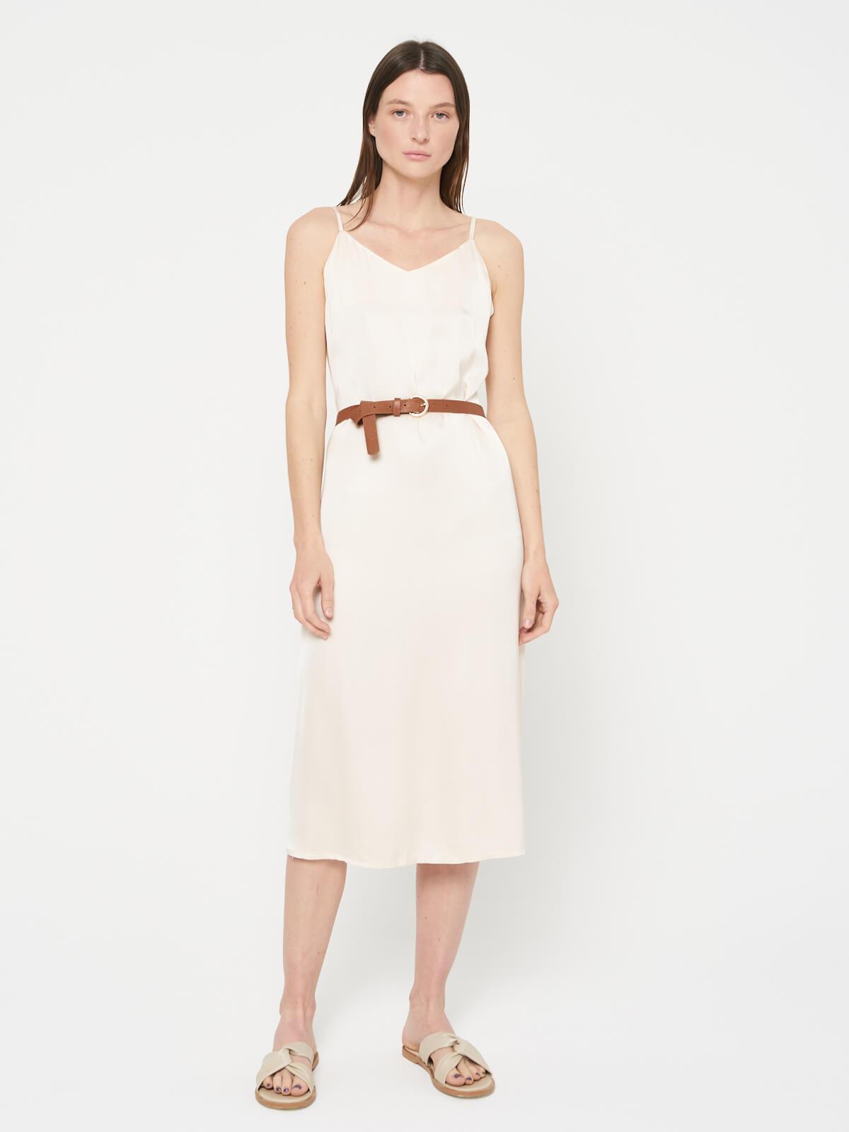Платье-комбинация с ремнем