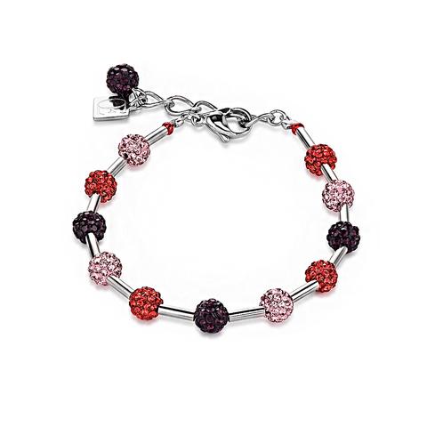 Браслет Coeur de Lion 4902/30-0300 цвет фиолетовый, красный, розовый