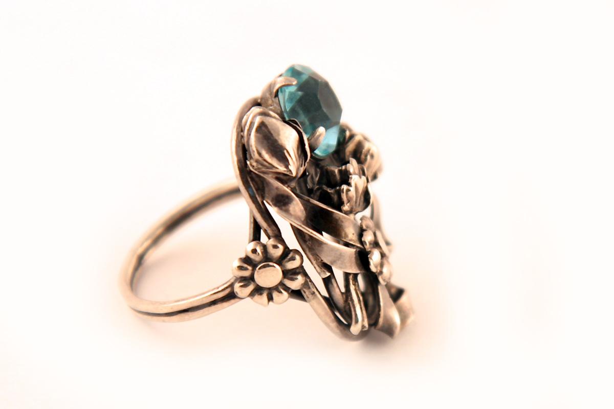 Редкое серебряное кольцо от Hobe