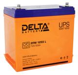 Аккумулятор Delta DTM 1255 L ( 12V 55Ah / 12В 55Ач ) - фотография