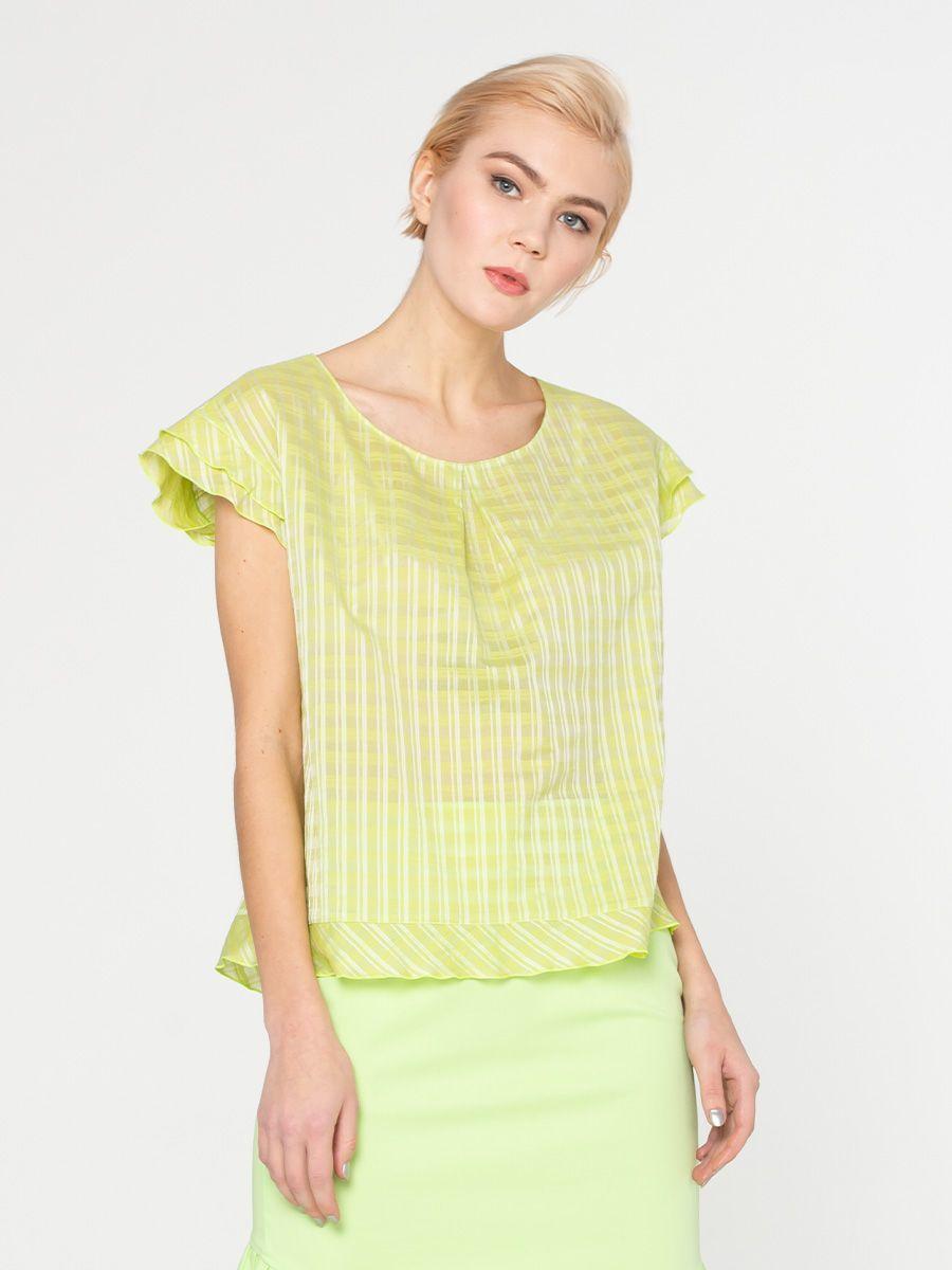 Блуза Г599-153 - Практичная и женственная летняя блуза - прекрасный выбор для создания современного образа. Лаконичный фасон очень привлекателен. Мелкая клеточка отлично сочетается с любыми однотонными деталями.