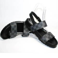 Сандали мужские Louis Vuitton 1008 01Blak.