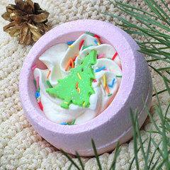 Десерт-шарик для ванн комбинированный ЕЛОЧКА, серия