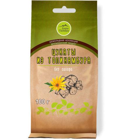 Натуральные (вяленые) цукаты из топинамбура, без добавления сахара,Дары Памира, 100г.