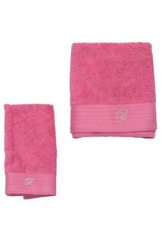 Набор полотенец 2 шт Blumarine Crociera розовый