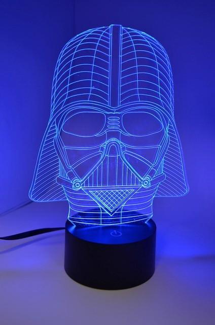 Лампа 3D Дарт Вейдер
