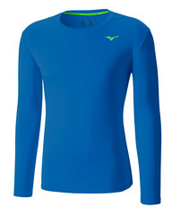 Рубашка беговая Mizuno DryLite Core L/S Tee мужская J2GA4503 25 синяя