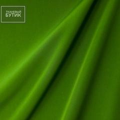 Креп полиэстеровый с эластаном цвета зеленой травы